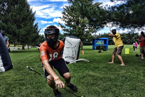 Get West play Archery Tag