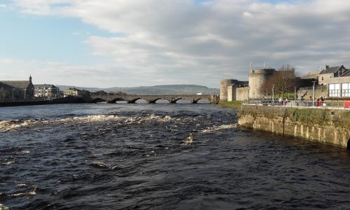 Cycling tours by Thomond Bridge and St Johns Castle