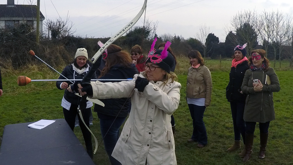 Hen Party Archery tag